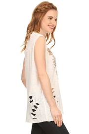 Emory Park Distressed Westcoast Top - Front full body