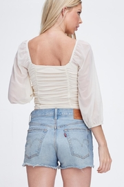 Emory Park Front Shirring Top - Back cropped