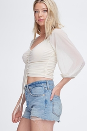 Emory Park Front Shirring Top - Side cropped