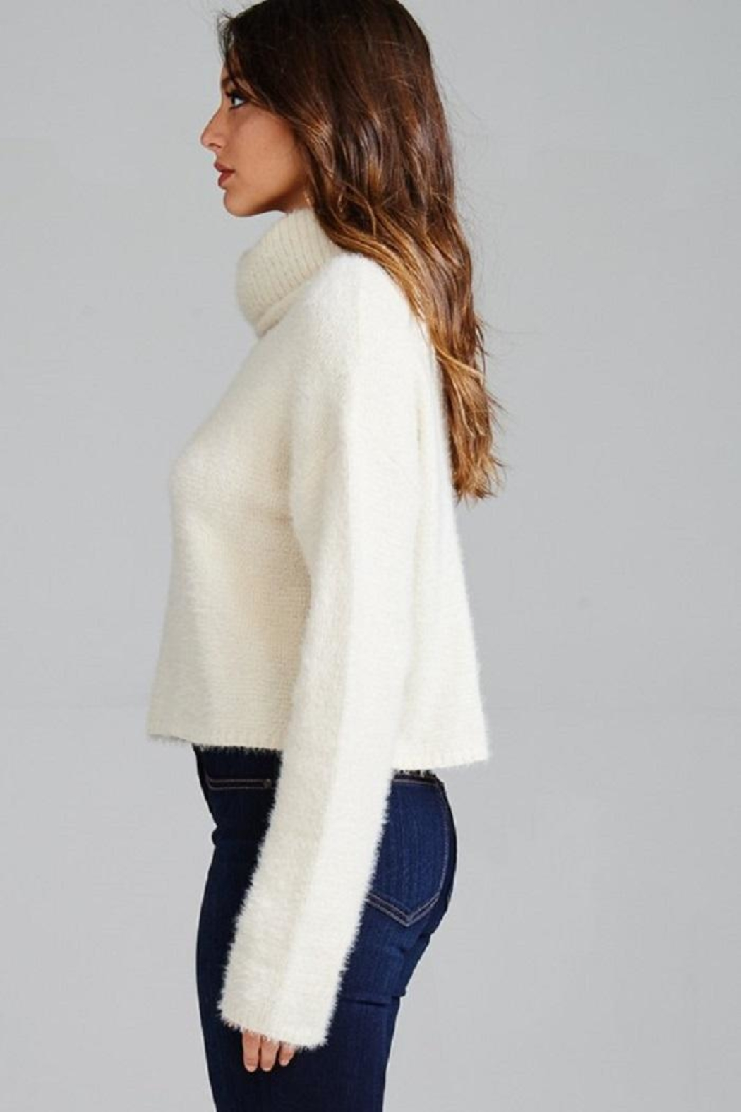 Emory Park Fuzzy Turtleneck Sweater - Front Full Image