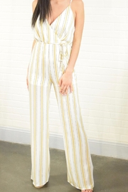 Emory Park Gold Stripe Jumpsuit - Product Mini Image