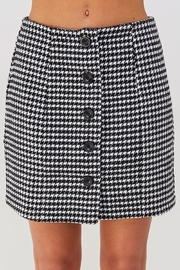 Emory Park Houndstooth Mini Skirt - Product Mini Image