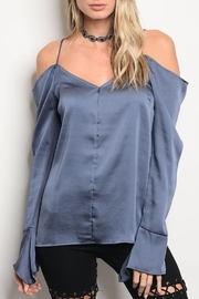 Emory Park Indigo Silk Blouse - Product Mini Image
