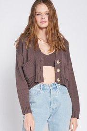 Emory Park Knitted Cropped Cardigan With Long Sleeves - Product Mini Image