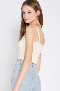 Emory Park Knitted Cropped Top With Spaghetti Straps - Alternate List Image