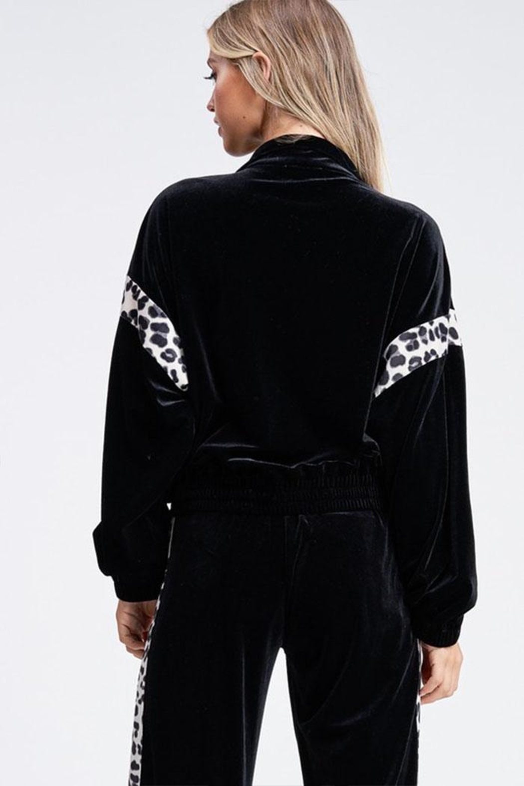 Emory Park Leopard Velour Jacket - Side Cropped Image