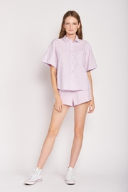 Emory Park Lilac Shorts Set - Front cropped