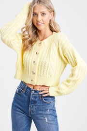 Emory Park Long Sleeve Cableknit Cropped Cardigan - Product Mini Image