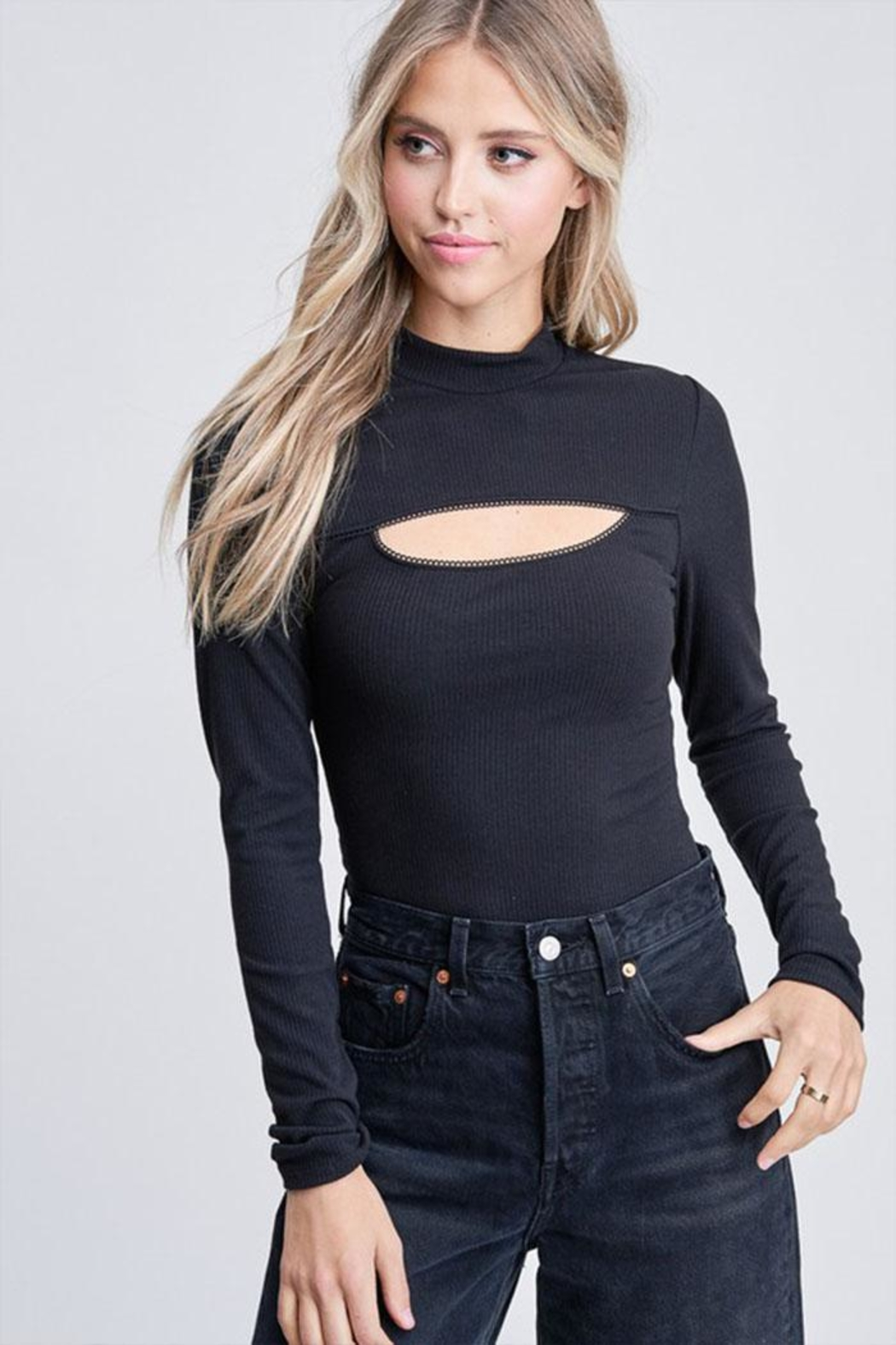 Emory Park Long-Sleeve Cutout Bodysuit - Front Cropped Image