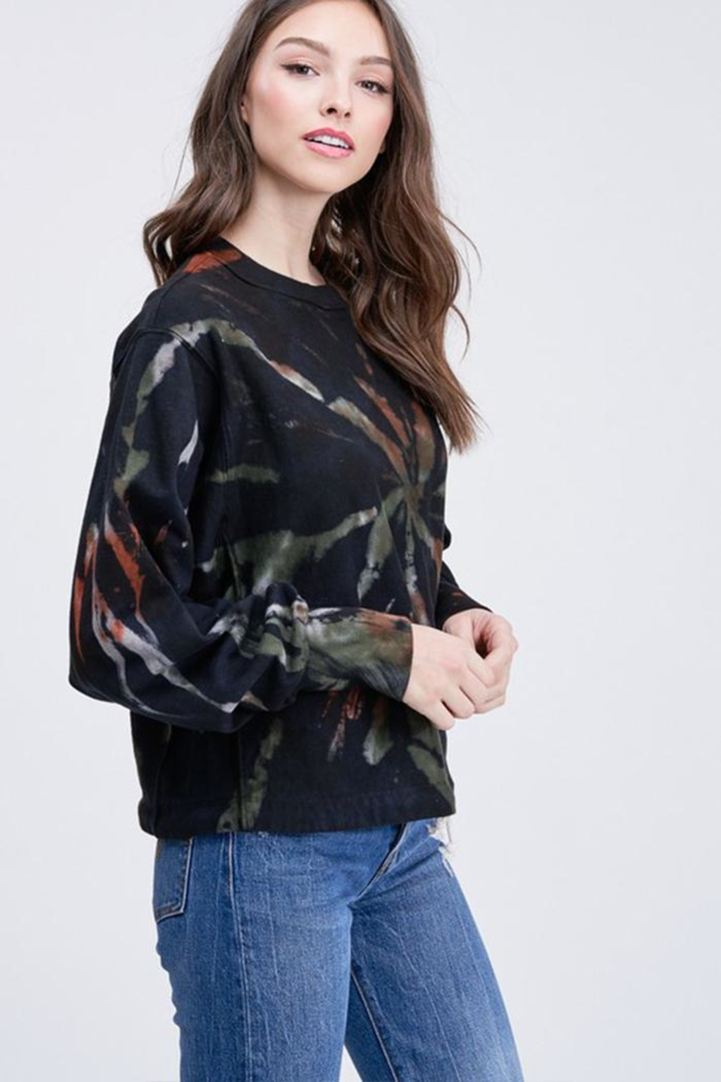 Emory Park Long-Sleeve Tie-Dye Sweater - Front Full Image