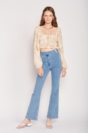 Emory Park Long Sleeve With Ruched Detail Crop Top - Product Mini Image