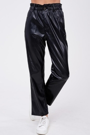 Emory Park Loose Fit 'Pu' Pants - Back cropped