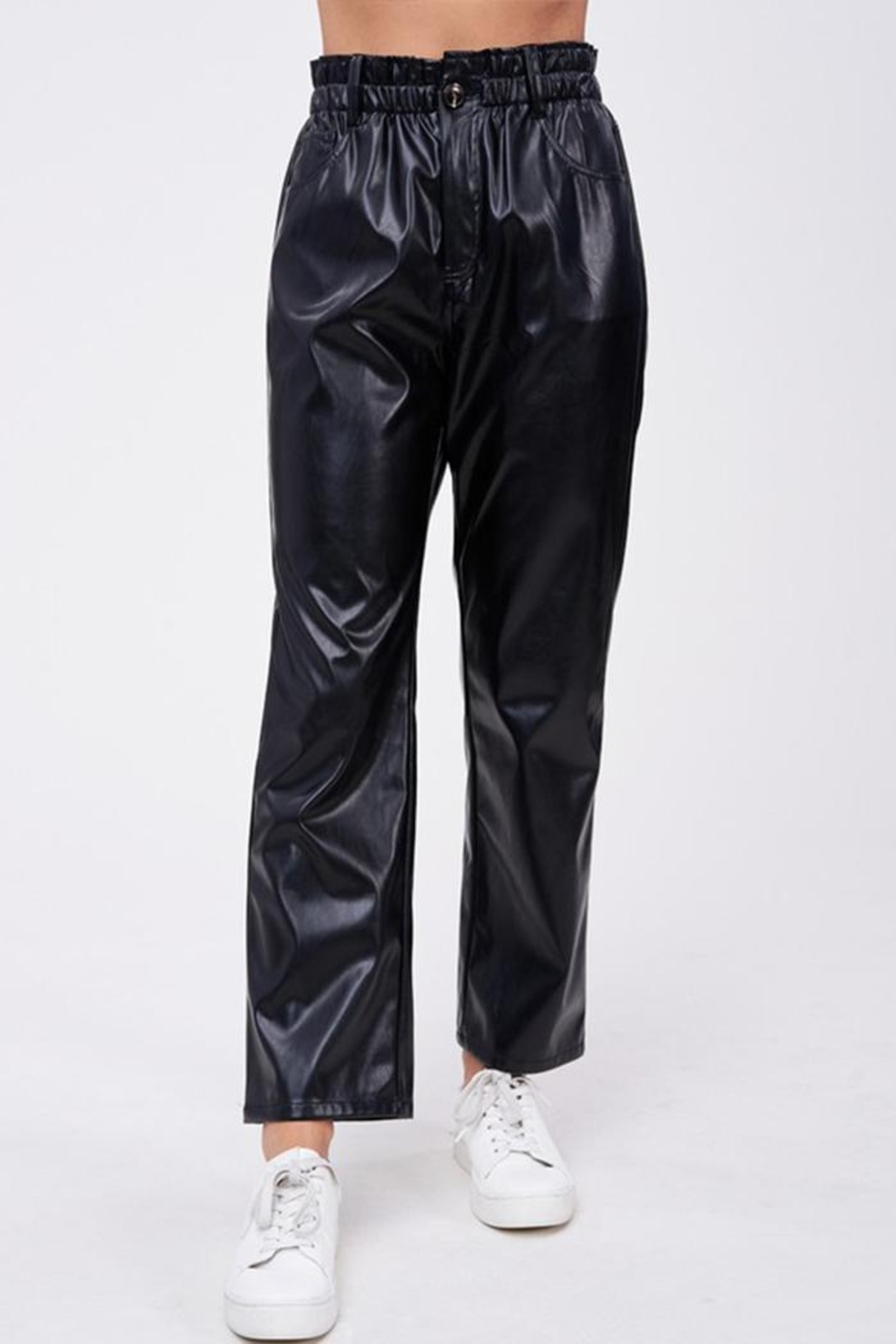Emory Park Loose Fit 'Pu' Pants - Front Full Image