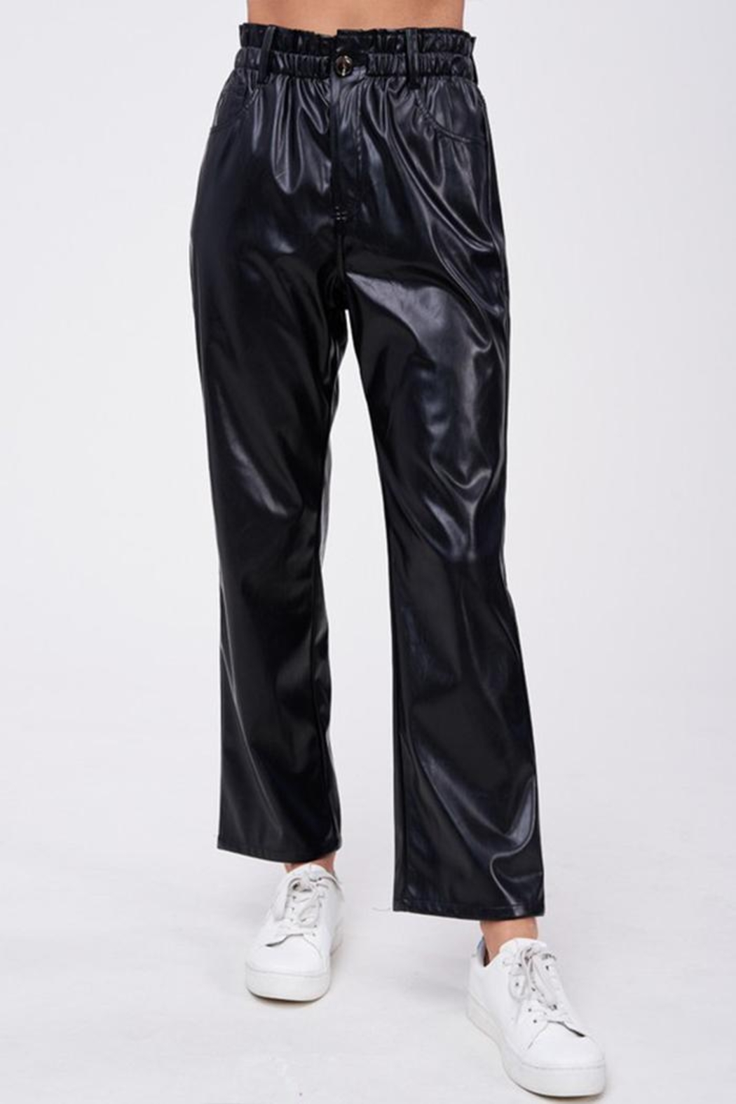 Emory Park Loose Fit 'Pu' Pants - Side Cropped Image
