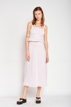 Emory Park Maxi Plaid Skirt - Product List Image