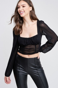 Shoptiques Product: Mesh Long Sleeve Top