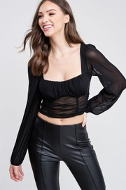 Emory Park Mesh Long Sleeve Top - Product Mini Image