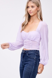 Emory Park Mesh Ruched Blouse - Front full body