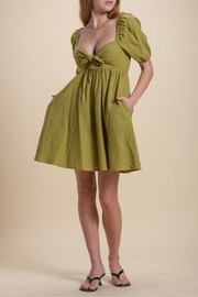 Emory Park Olive Baby Doll Dress - Front cropped