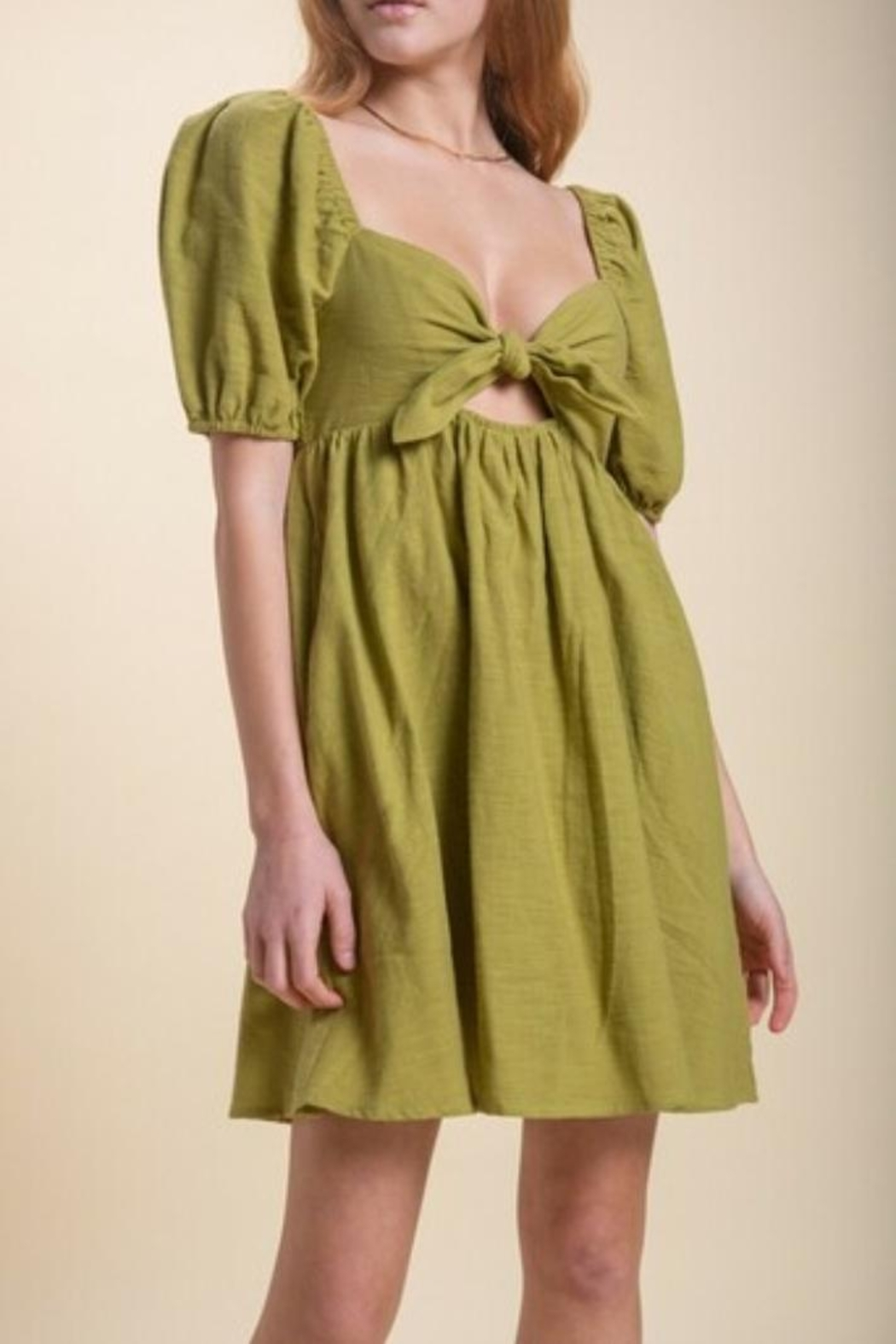 Emory Park Olive Baby Doll Dress - Front Full Image