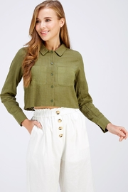 Emory Park Olive Crop Top - Product Mini Image