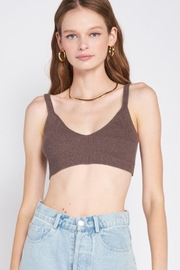 Emory Park Open Back Knitted Bralette - Front cropped