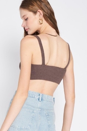 Emory Park Open Back Knitted Bralette - Side cropped