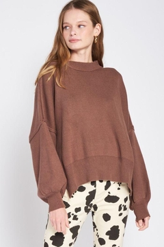 Shoptiques Product: Over Fitted Long Sleeve Sweater Top