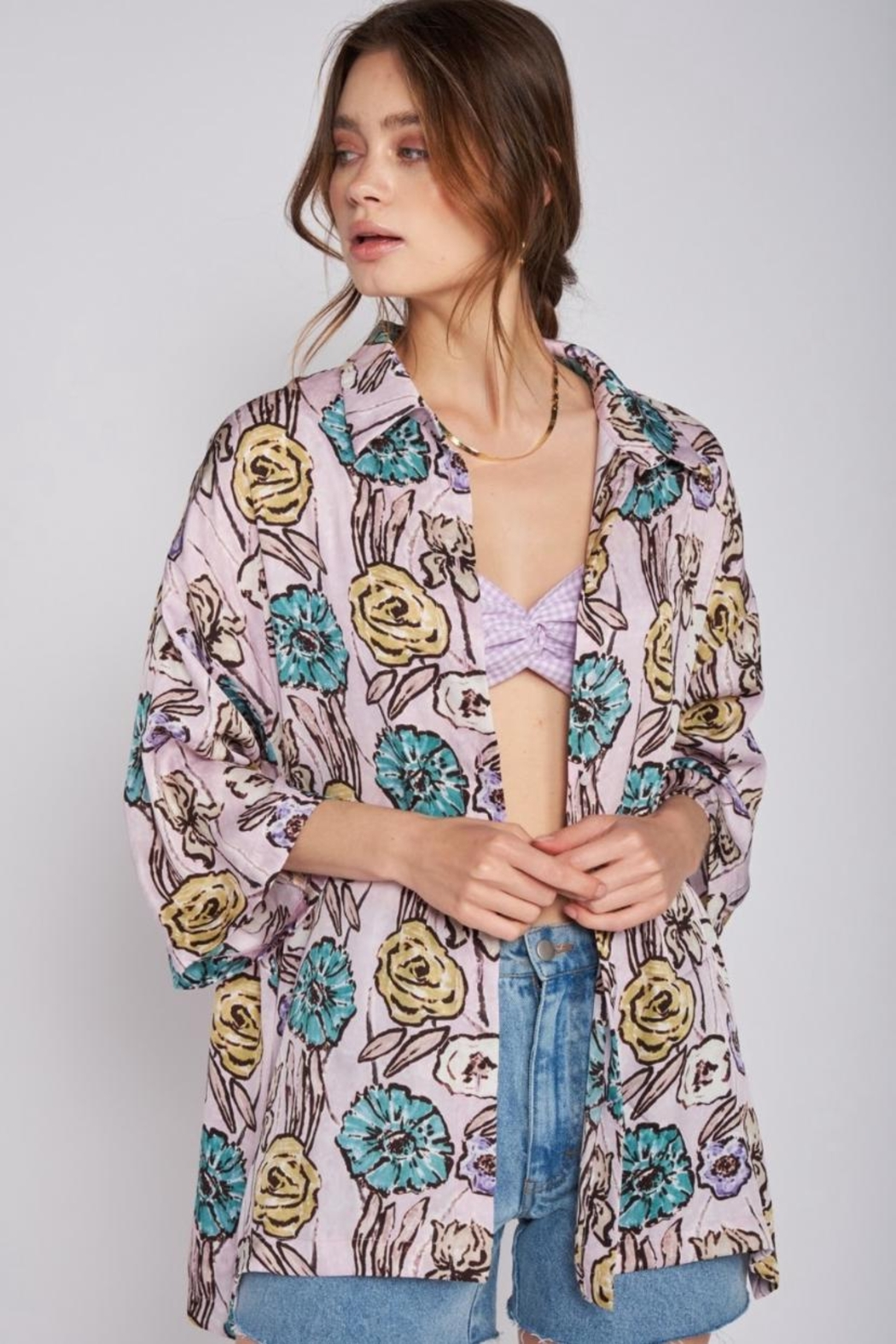 Emory Park Oversized Button-Down Top - Main Image