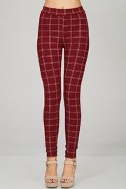 Emory Park Plaid Skinny Pants - Front cropped