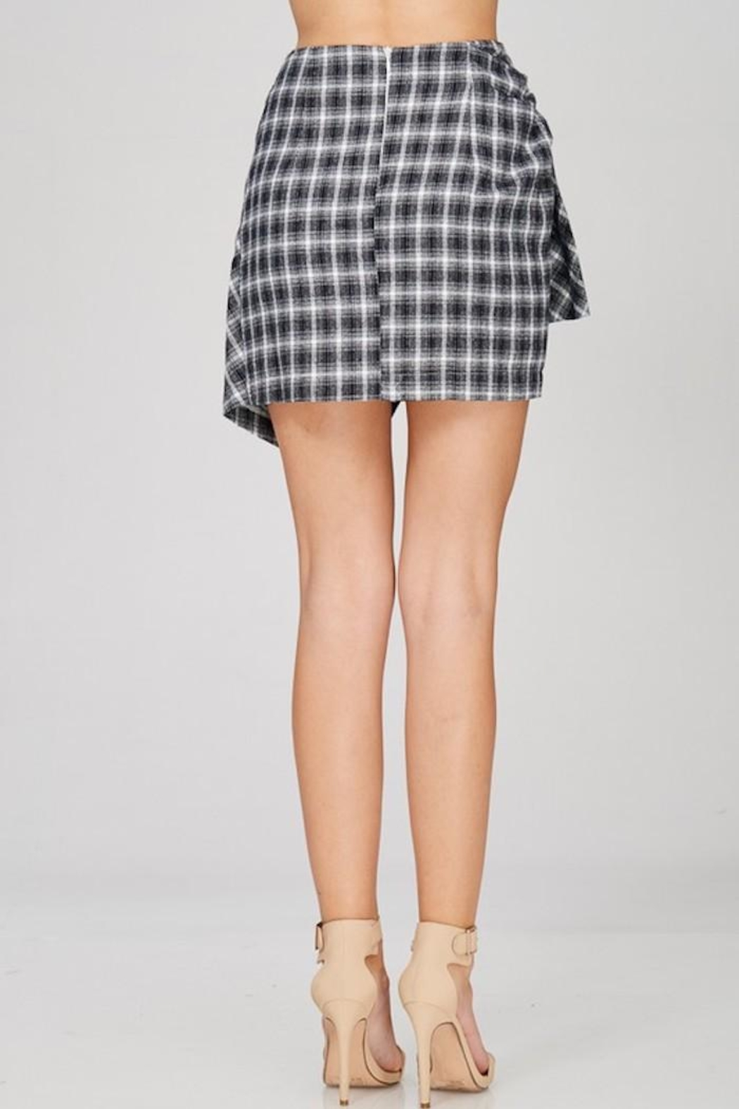 Emory Park Plaid Tie Skirt - Side Cropped Image