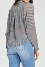 Emory Park Plaid Tie Top - Back cropped