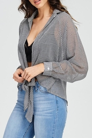 Emory Park Plaid Tie Top - Side cropped