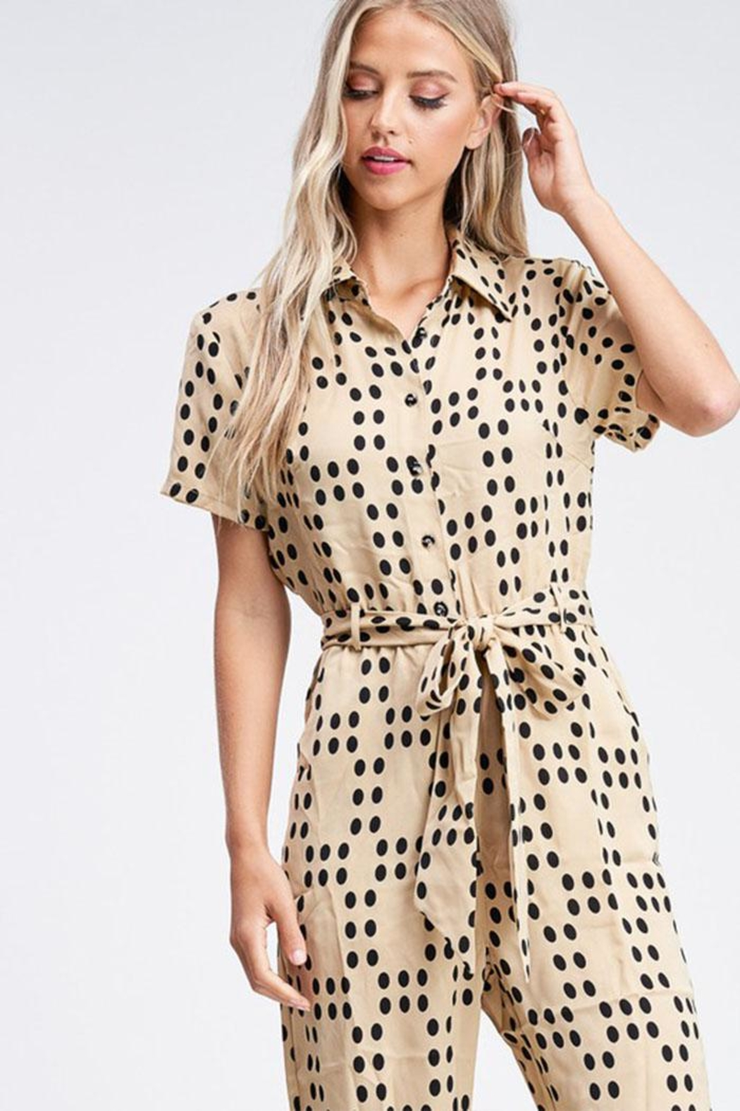Emory Park Polka Dot Jumpsuit - Back Cropped Image