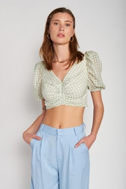 Emory Park Puff-Sleeve Crop Top - Product Mini Image