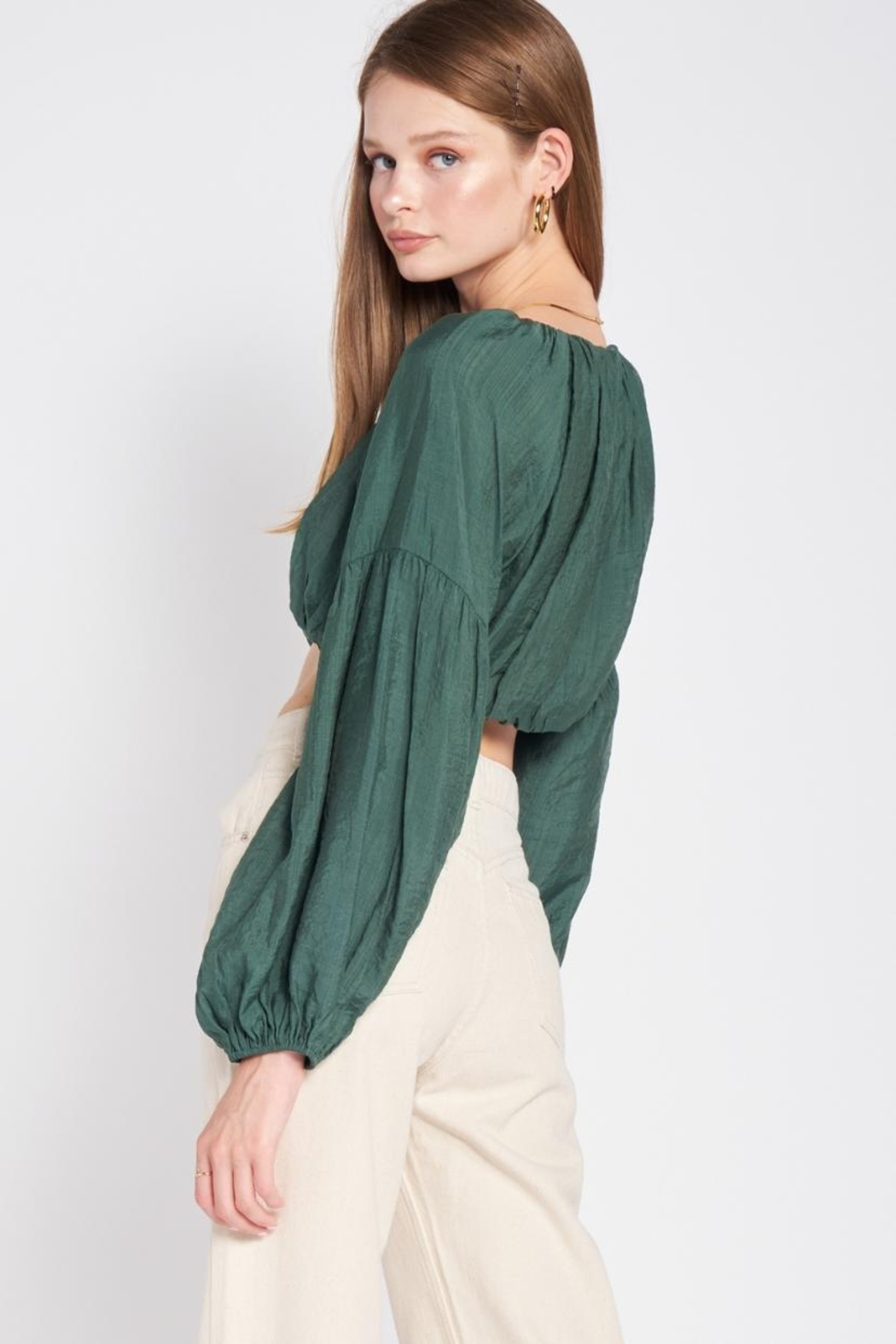 Emory Park Puff Sleeve Top - Side Cropped Image