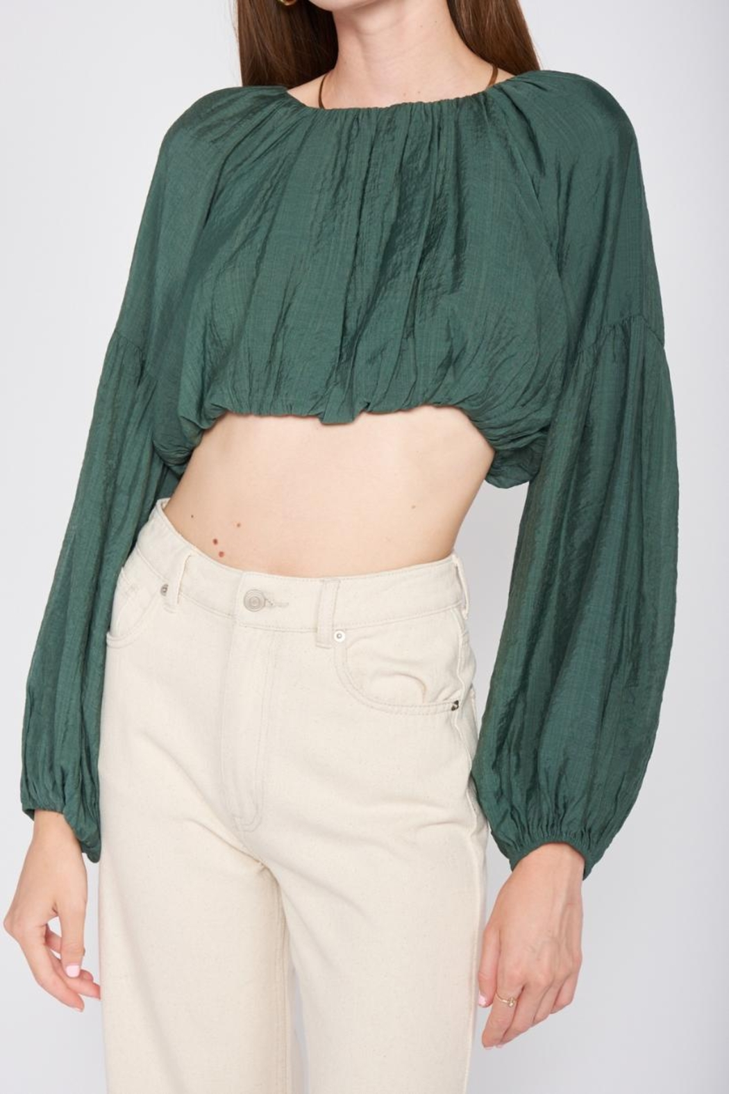Emory Park Puff Sleeve Top - Front Full Image