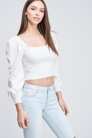 Emory Park Ribbed Crop Top - Front full body