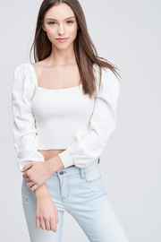Emory Park Ribbed Crop Top - Front cropped