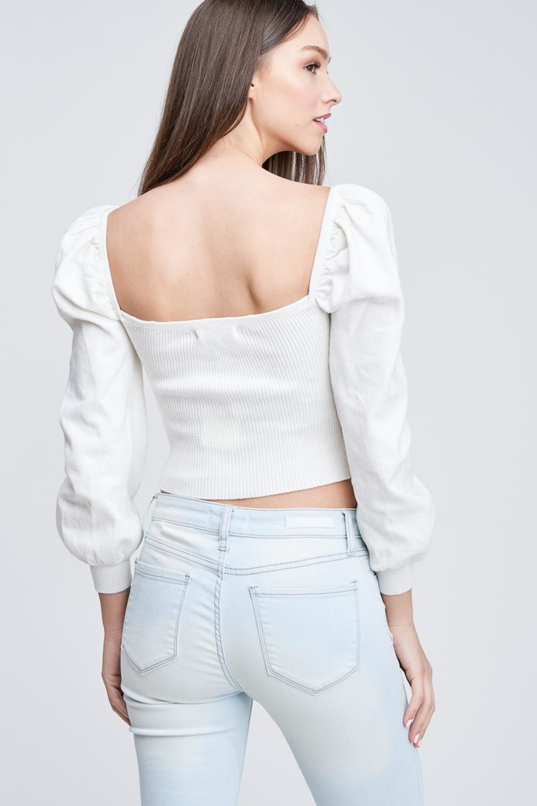 Emory Park Ribbed Crop Top - Back Cropped Image