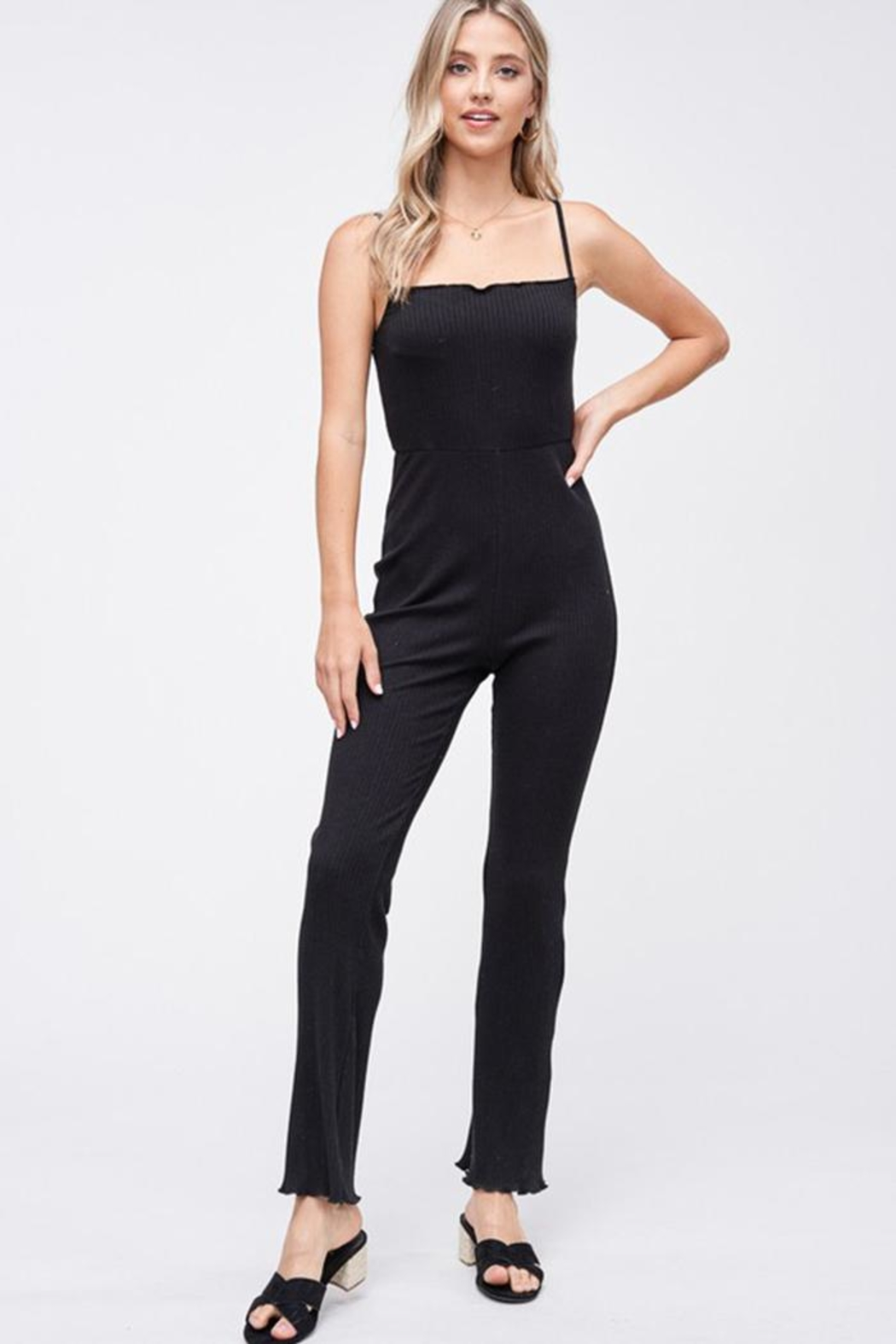 Emory Park Ribbed Knit Jumpsuit - Main Image