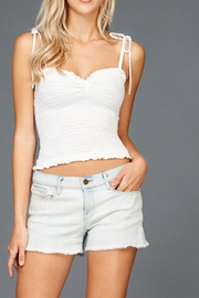 Emory Park Ribbed Smocked Tank - Front cropped
