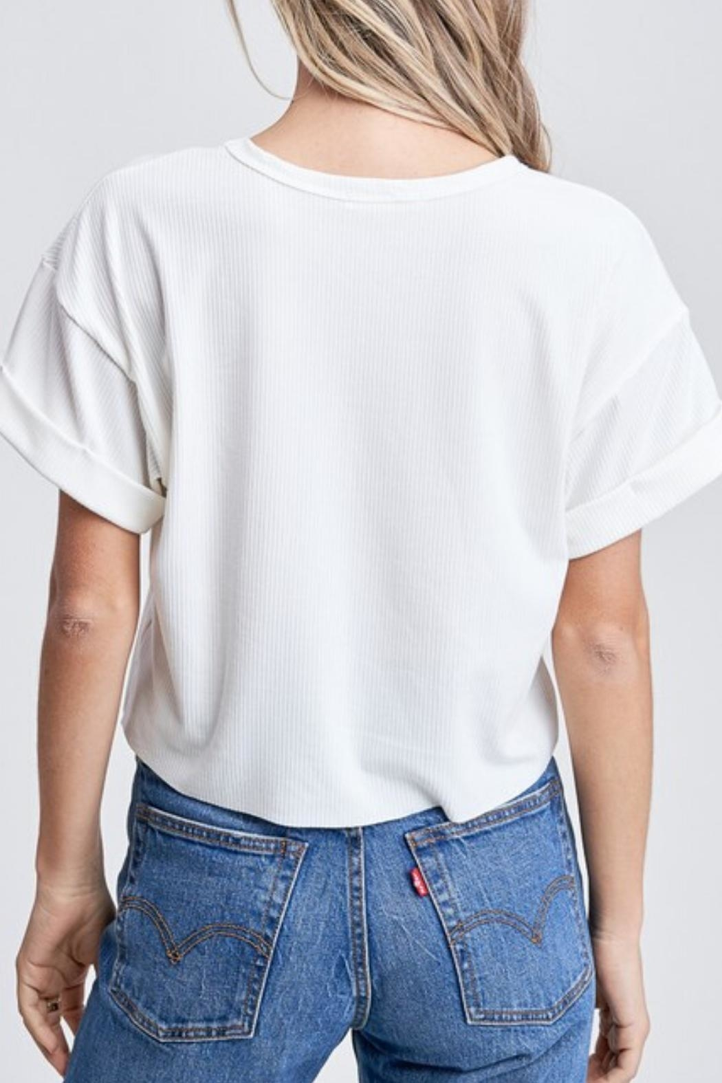 Emory Park Roll-Sleeve Tee - Side Cropped Image