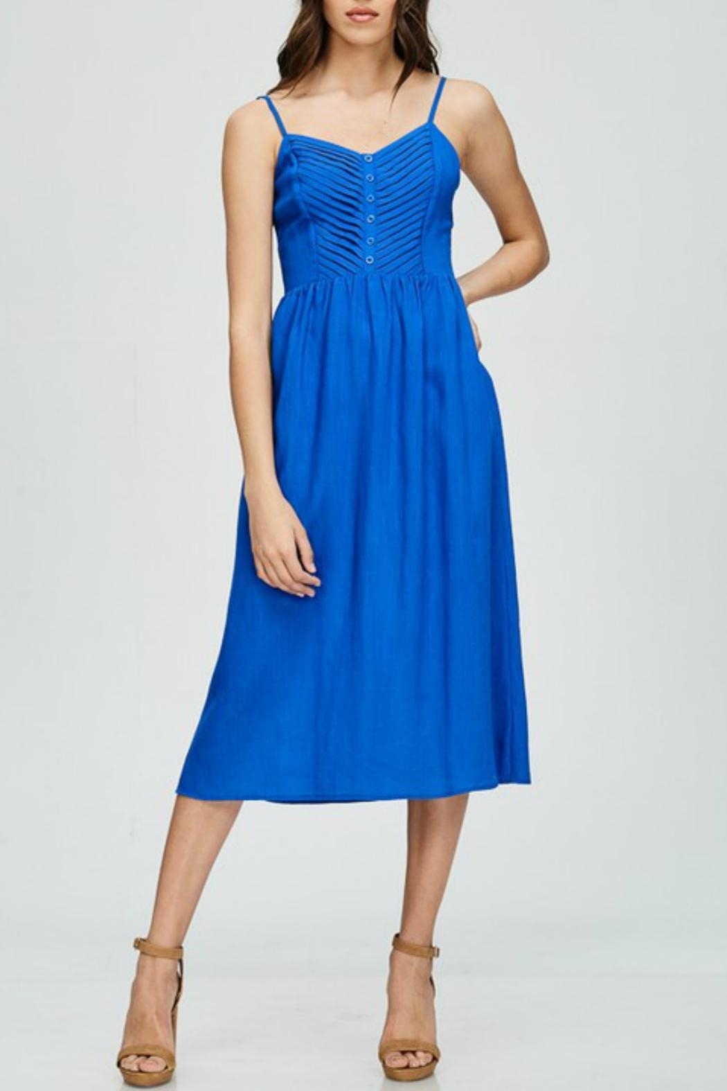 Emory Park Royal Blue Midi - Front Cropped Image