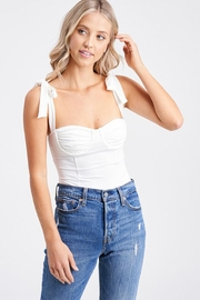 Emory Park Ruched Bust Bodysuit - Front cropped