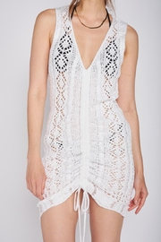 Emory Park Ruched Crochet Dress - Product Mini Image