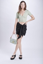 Emory Park Sarong Look Twist Front Mini Skirt - Other