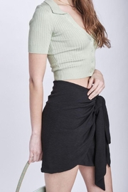 Emory Park Sarong Look Twist Front Mini Skirt - Front full body