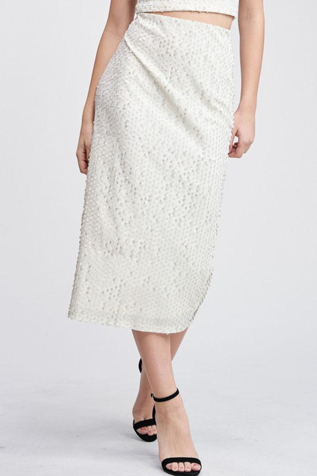 Emory Park Sequin Midi Skirt - Front Cropped Image