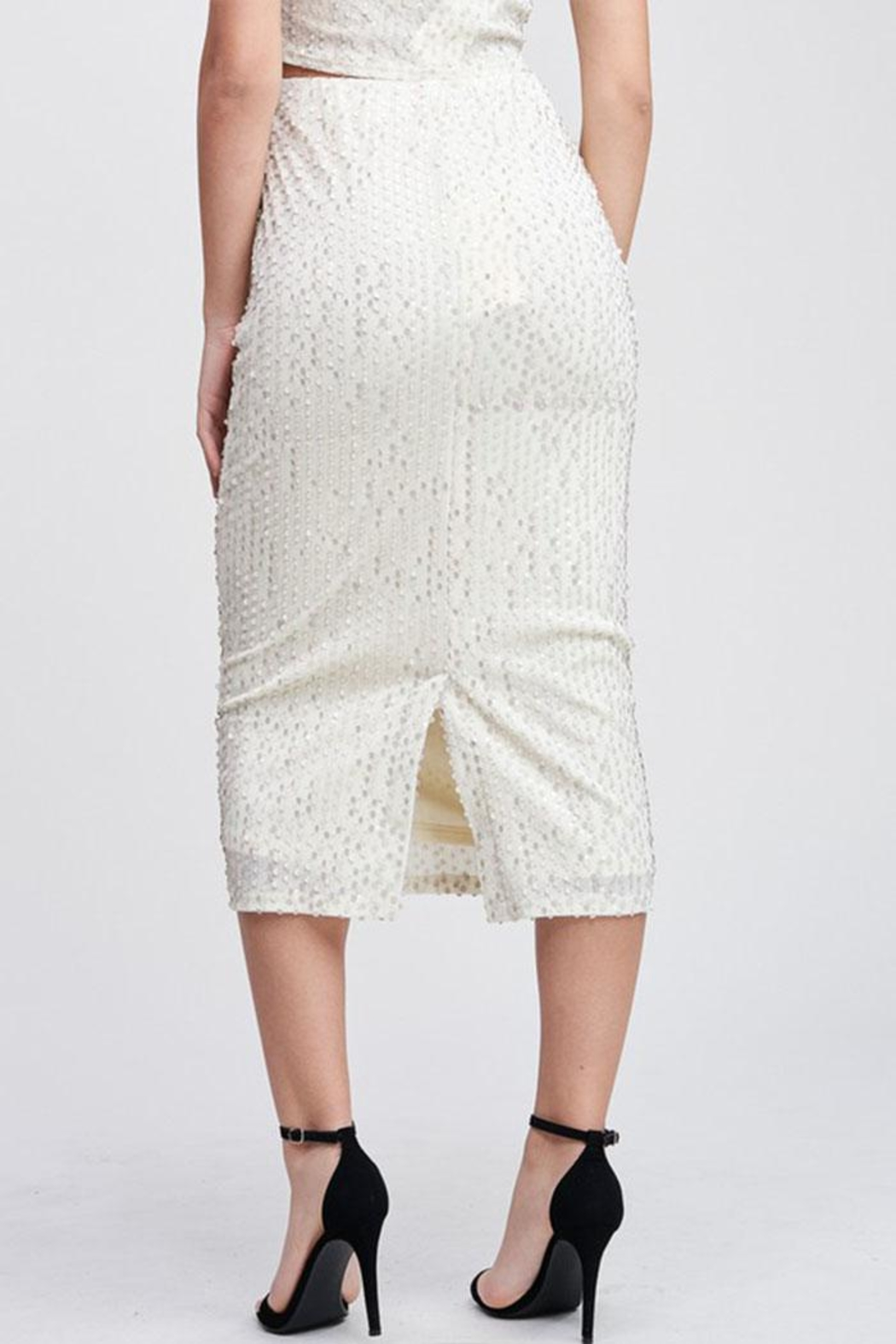 Emory Park Sequin Midi Skirt - Side Cropped Image